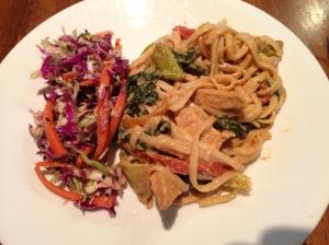 Schezuan Noodles and Slaw